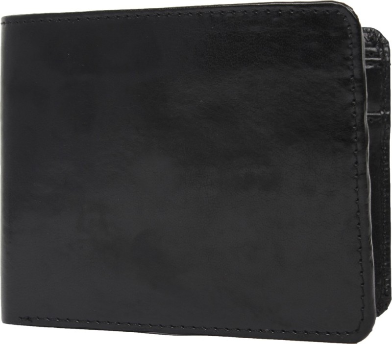 Chisel Men Black Artificial Leather Wallet(3 Card Slots)