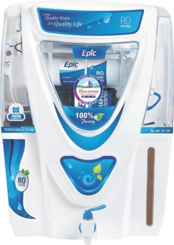 Aquagrand EPIC 17 L RO + UV + UF + TDS Water Purifier(WHITE AND BLUE)