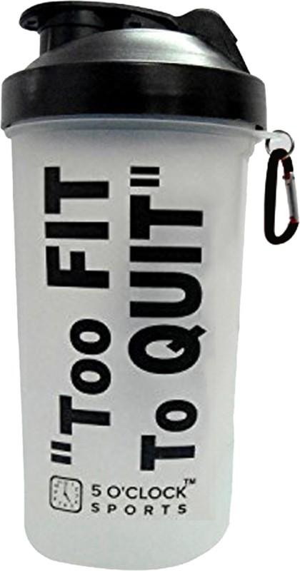 5 OClock Sports Fat Boy Shaker Bottle - 600 ml 600 ml Shaker(Pack of 1, Black)