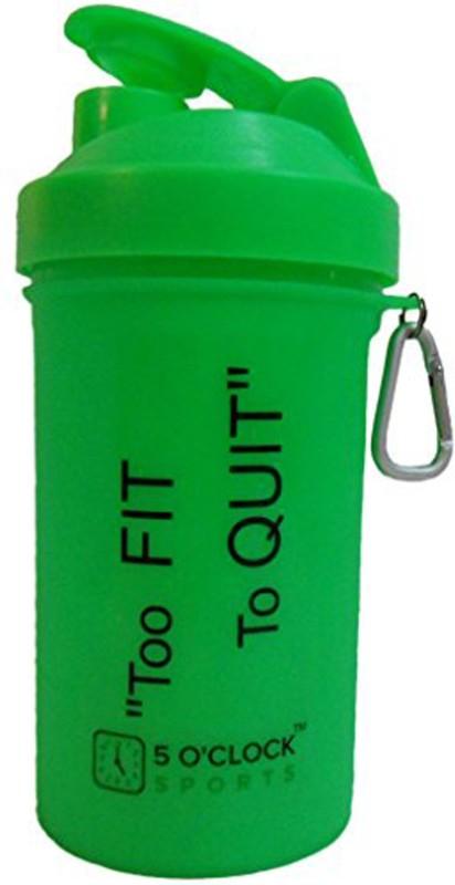 5 OClock Sports Fat Boy Shaker Bottle - 600 ml- Sleek and Convenient Design 600 ml Shaker(Pack of 1, Green)