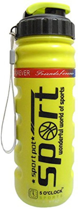 5 OClock Sports Roller Sipper Water Bottle - 800 ML 800 ml Sipper(Pack of 1, Yellow)
