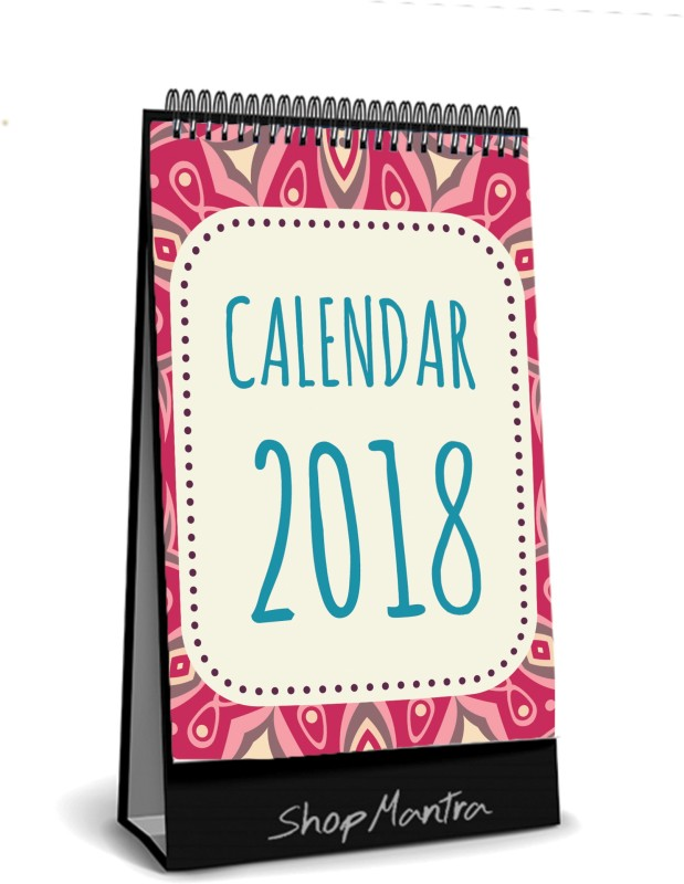 ShopMantra ShopMantra Boho Pattern Desk Calender / Table Calendar 2018 Size (5.5 X 8 Inch ) 2018 Table Calendar(Multicolor, Abstract)