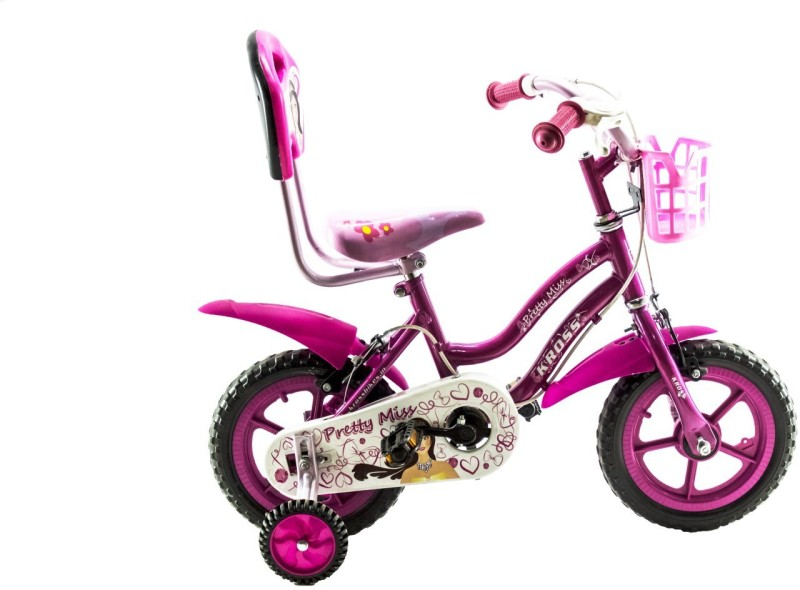 Kross Pretty Miss 12inches for kids age of 2-4yrs 12 T Single Speed Recreation Cycle(Multicolor)