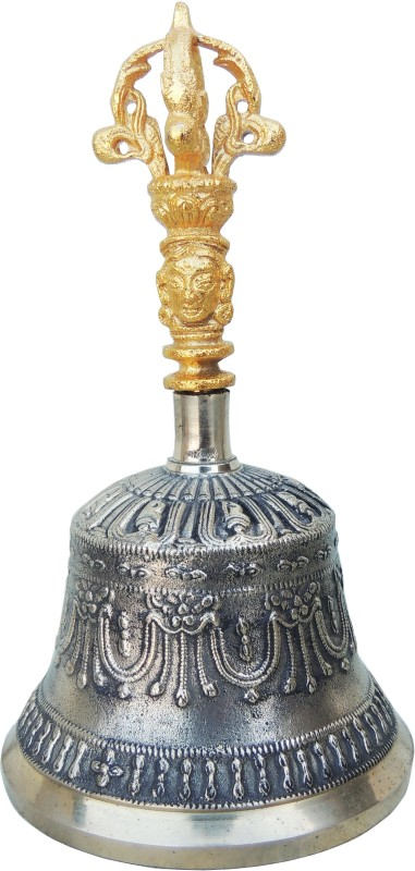 Brass Gift Center Puja Bell made up of Bronze and Brass Bronze, Brass Pooja Bell(Yellow, Black, Brown, Pack of 1)