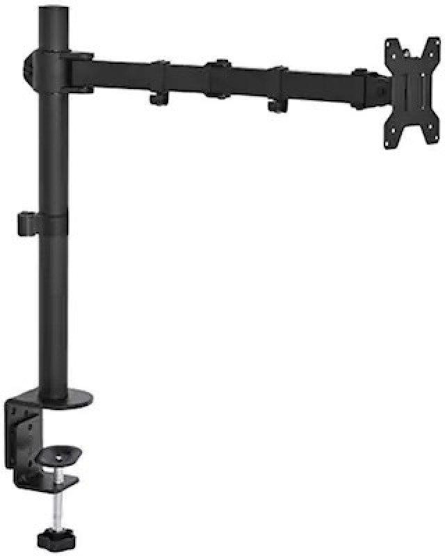 Rife Single Monitor Desk Mount Single LCD Monitor Desk Mount Stand Fully Adjustable/Tilt/Articulating for 1 Screen up to 27