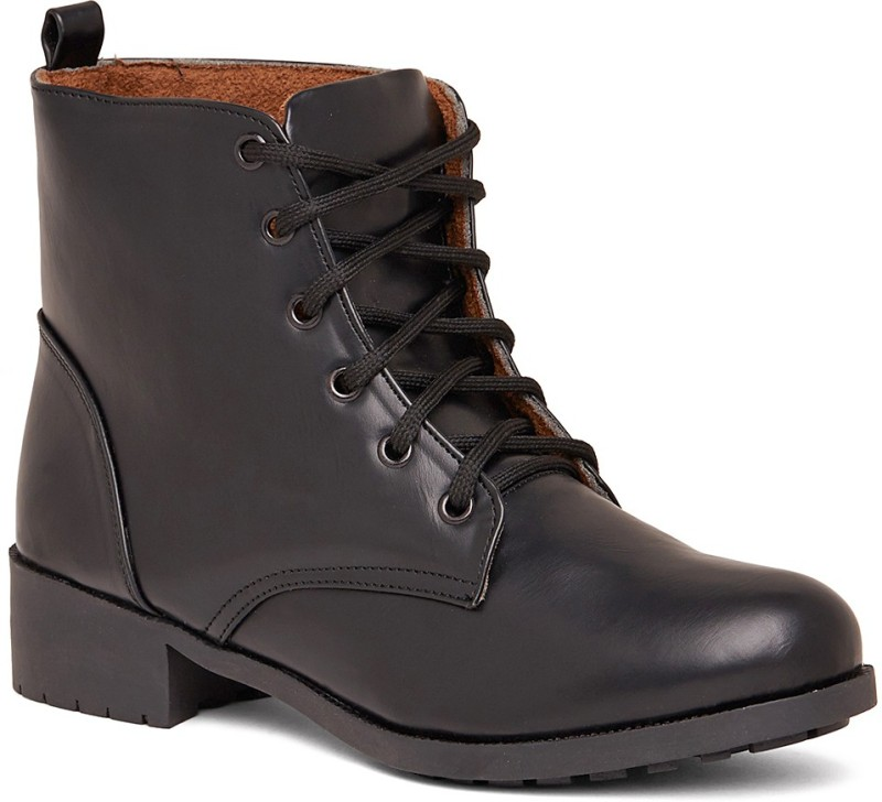 Marc Loire Marc Loire Womens Black Lace-up Boots Boots For Women(Black)