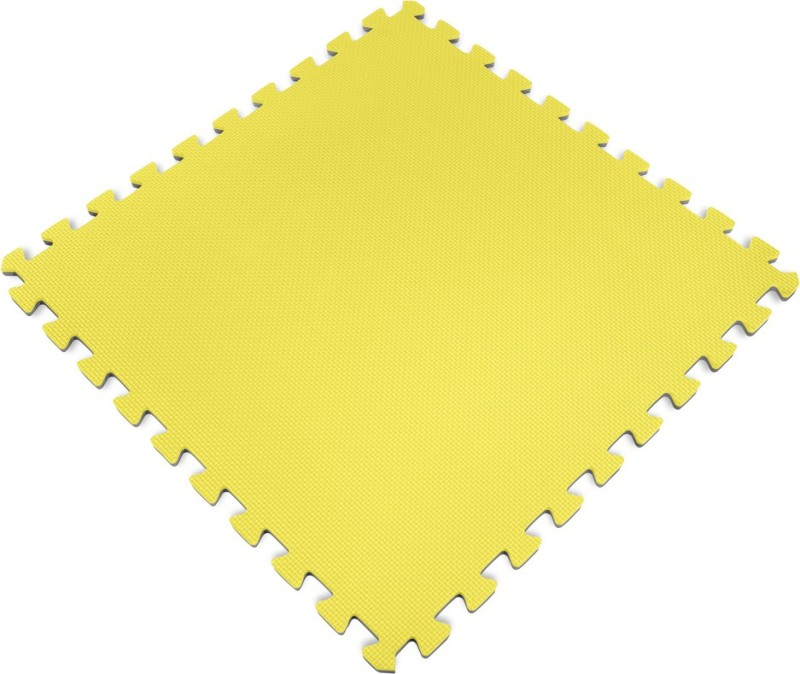 Iris Interlocking 2 ft. X 2 ft. (4 pieces) Yellow 10 mm Exercise & Gym Mat
