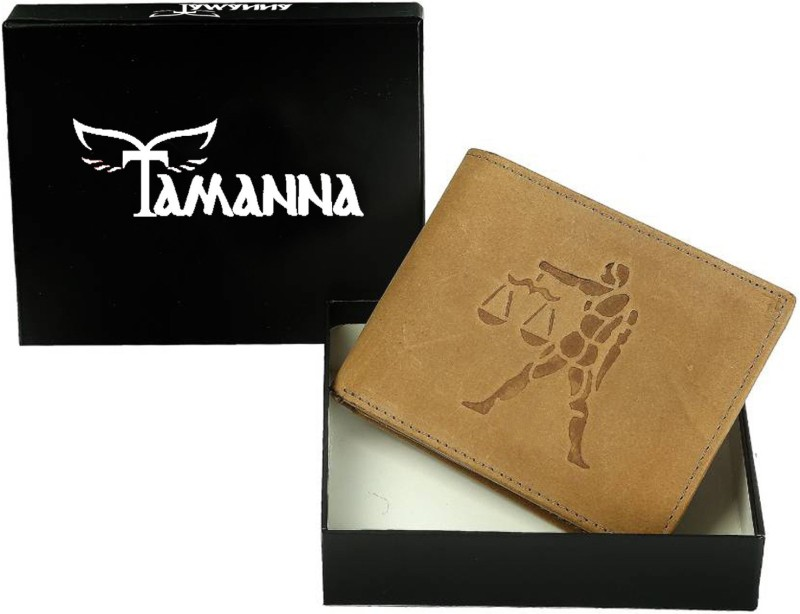 Tamanna Men Tan Genuine Leather Wallet(8 Card Slots)