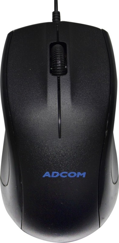 Adcom Optical Wired Mouse 2308-USB Compatible Wired Optical Mouse(USB, Black)