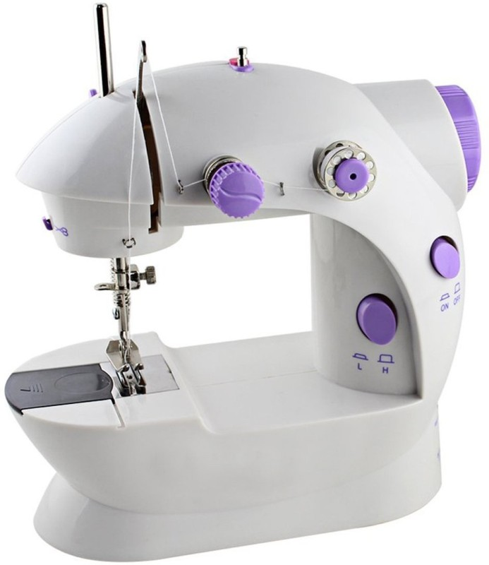 Iktu Sewing Machine Mini 2-Speed Double Thread, Double Speed, Portable Sewing Machine With Foot Pedal , Adapter , Light and Cutter Electric Sewing Machine( Built-in Stitches 1)