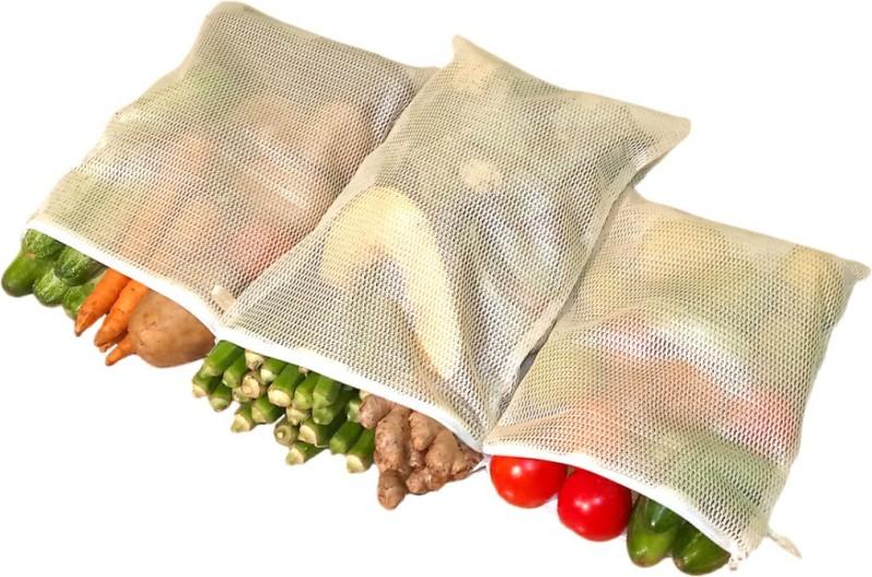 Homecute Fridge Bags Set of 6 Pcs Pack of 6 Grocery Bags(Grey)