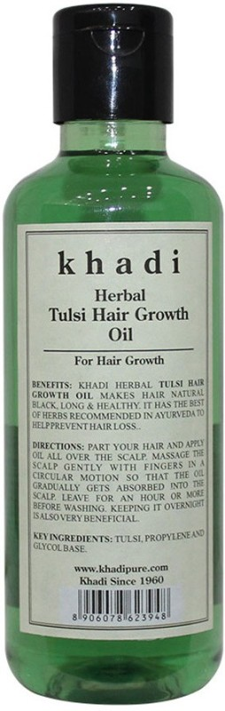Khadi Herbal Tulsi Hair Growth Oil Hair Oil(210 ml)