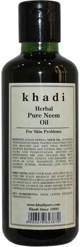 Khadi Herbal Pure Neem Oil Hair Oil(210 ml)