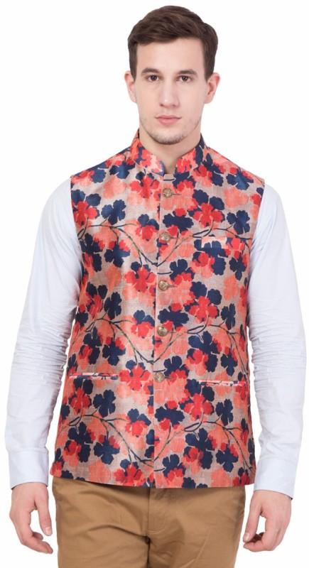 House Of Sensation Sleeveless Printed Mens Jacket