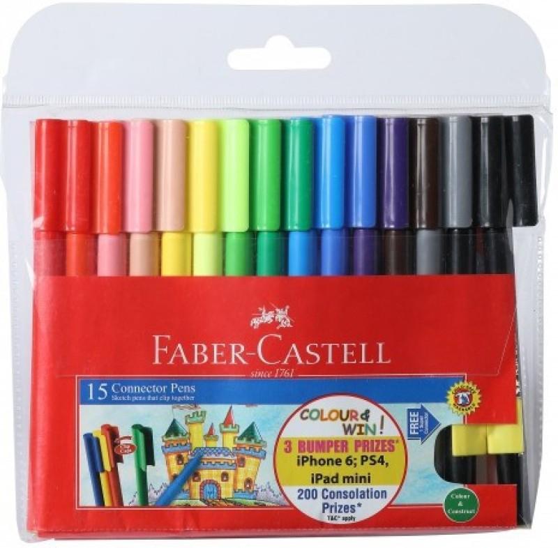 Faber-Castell Bullet Tip Food Grade Dye Fibre Tip Colour Marker / Sketch...