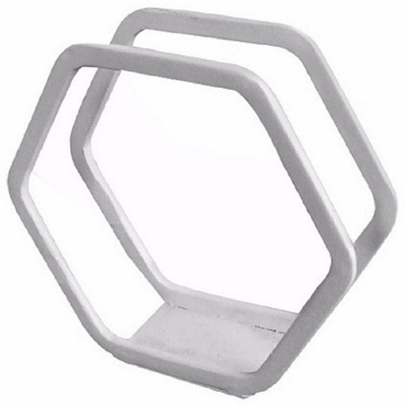 JVS White-Hexa Napkin Holder White Napkins