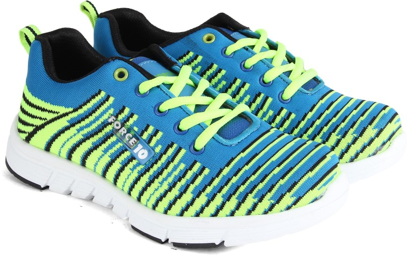 Force 10 by Liberty Running Shoes For Men(Blue, Green)