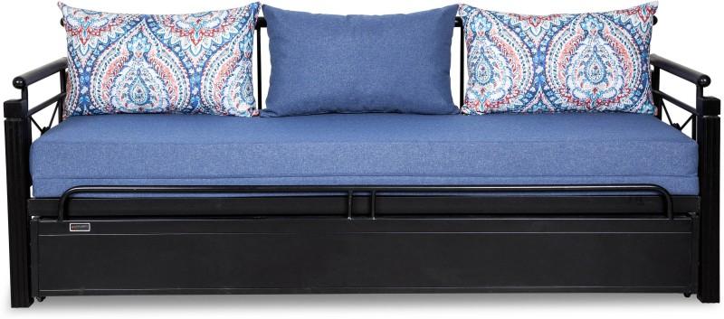 FurnitureKraft Venice Double Metal, Engineered Wood Sofa Bed(Finish Color -...