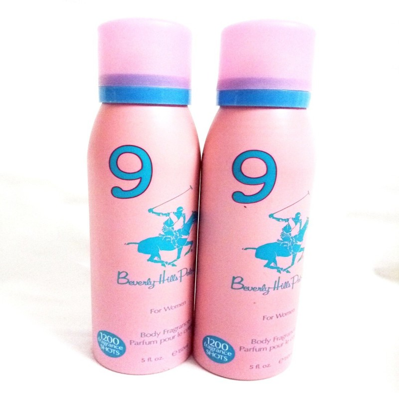 Beverly Hills Polo Club 9 Body Spray - For Women(300 ml, Pack of 2)