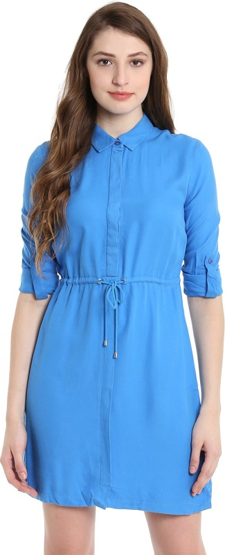 United Colors of Benetton Womens Shirt Blue Dress