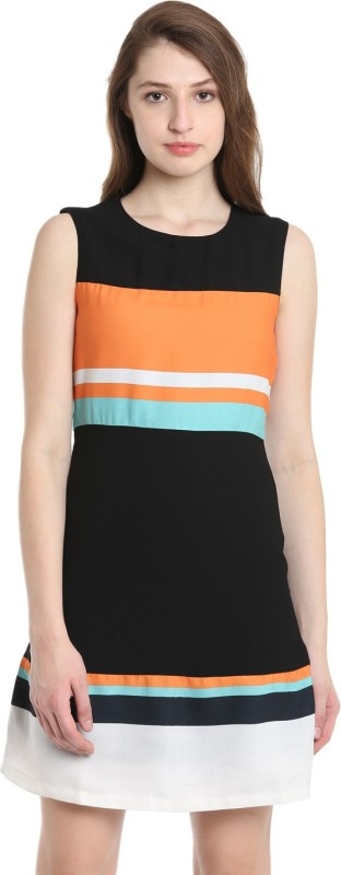 United Colors of Benetton Womens Fit and Flare Black Dress