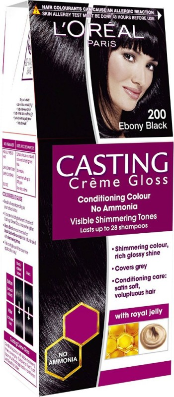 LOreal Paris Casting Creme Gloss Hair Color(Ebony Black 200)