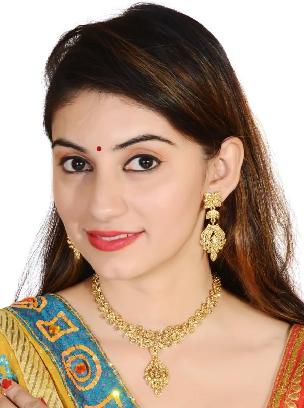 Vatsalya Creation Alloy Jewel Set(Gold)