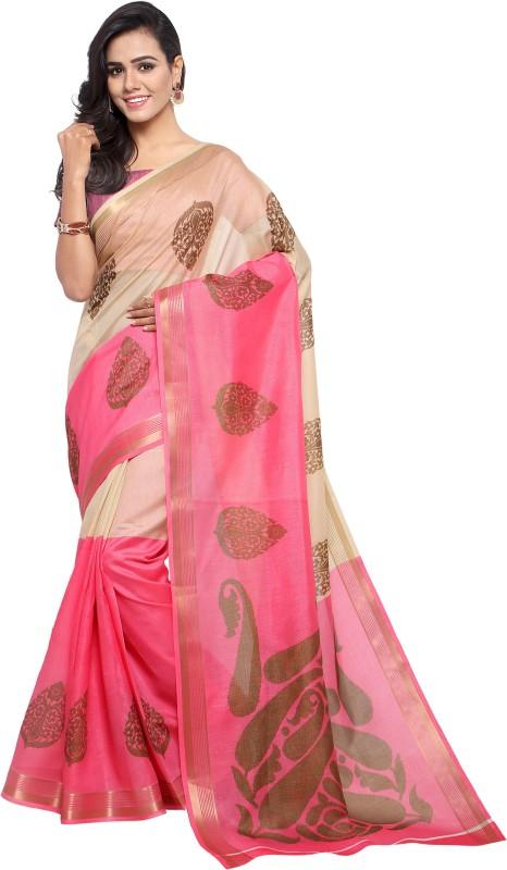 Sunaina Printed Bollywood Poly Chanderi Saree(Multicolor)