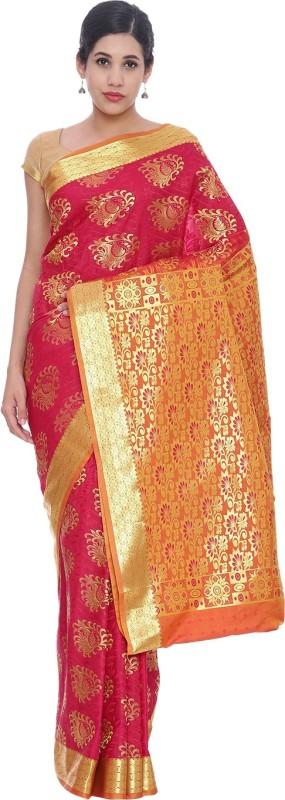 The Chennai Silks Woven Kanjivaram Silk Saree(Magenta)