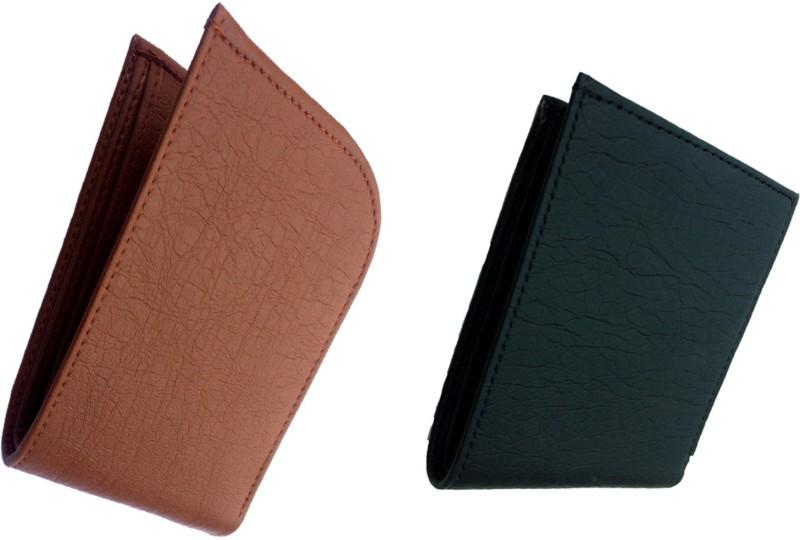 FRIENDS & COMPANY Men Tan, Black Genuine Leather Wallet(8 Card Slots)