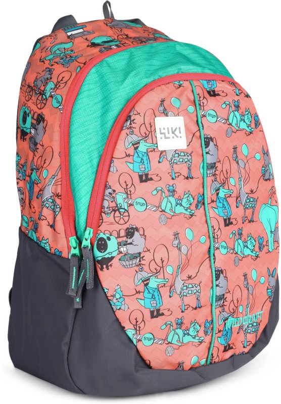 Wildcraft Wiki Zoo 4 28 L Backpack(Green, Pink)