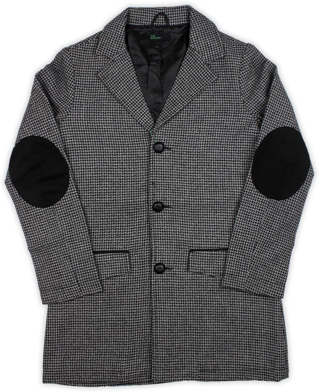 United Colors of Benetton Full Sleeve Houndstooth, Woven Boys Jacket