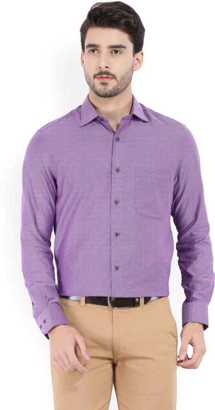 Louis Philippe Mens Printed Formal Purple Shirt