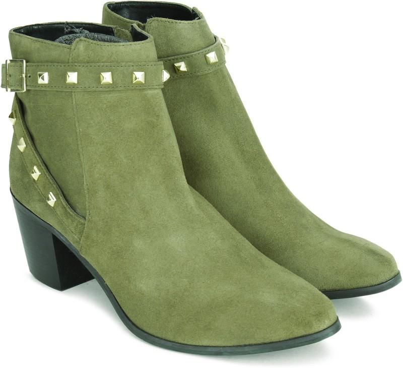 Carlton London CLL-3822 Boots For Women(Khaki)