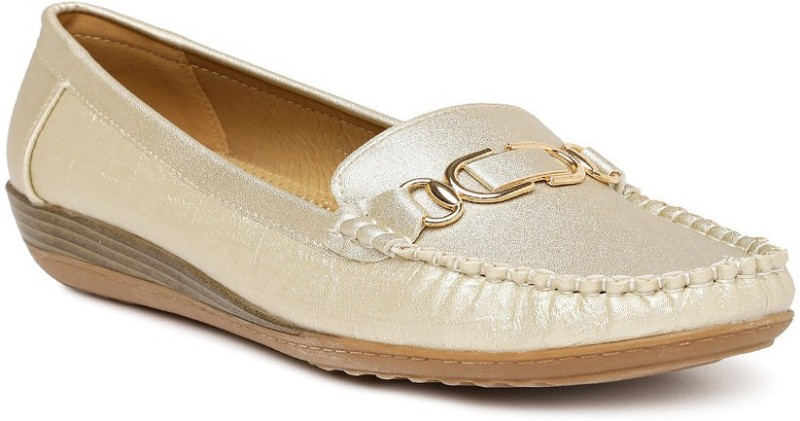 Addons Loafers For Women(Gold)