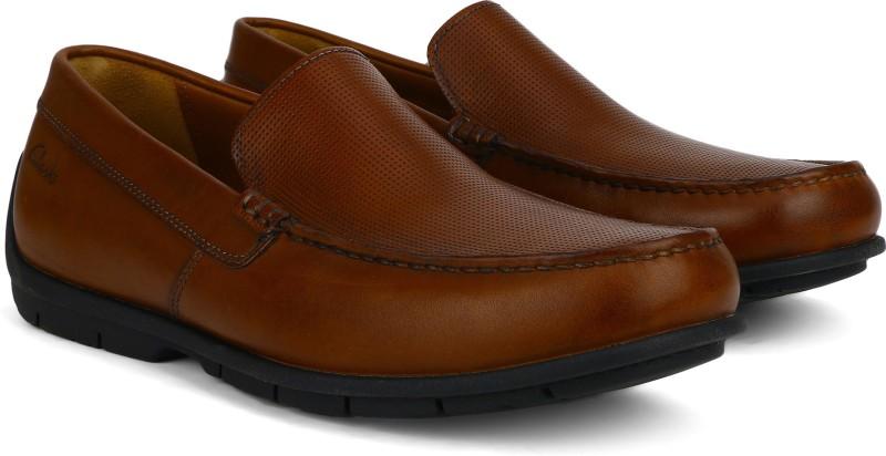 Clarks Verado Lane Tan Leather Loafers For Men(Tan)