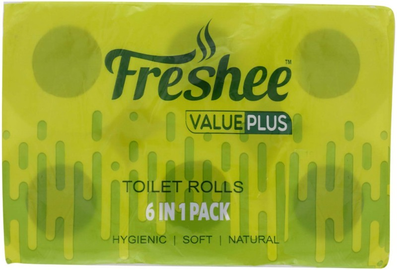 Freshee Value Plus Toilet Paper Roll(2 Ply, 220 Sheets)