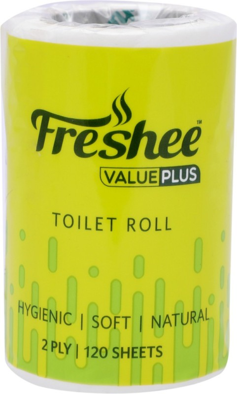 Freshee Value Plus Toilet Paper Roll(2 Ply, 120 Sheets)
