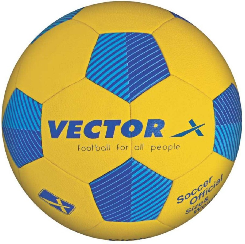 Vector X FOOTBALL-KICK-TBD-5 Football - Size: 5(Pack of 1, Yellow, Blue)