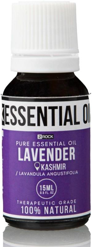 2 Rock Pure Lavender Essenial Oil (Kashmir) Therapeutic Grade 15 ml(15 ml)
