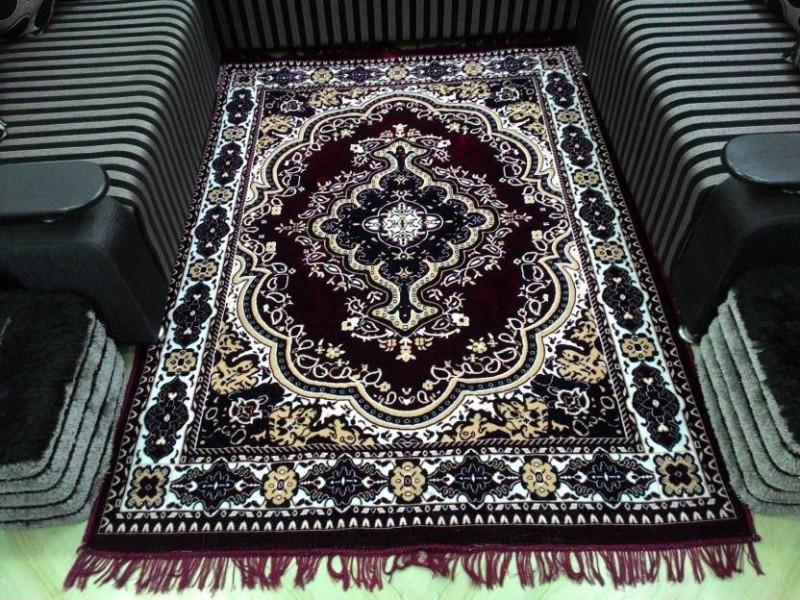 home BEST Multicolor Polyester Carpet(152 cm  X 212 cm)