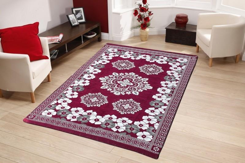 home BEST Multicolor Chenille Carpet(180 cm  X 270 cm)