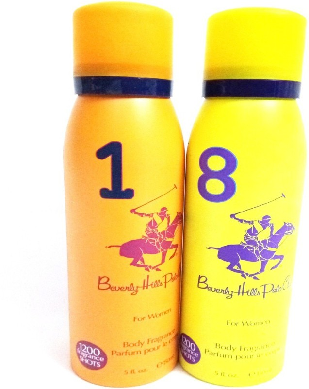 Beverly Hills Polo Club 1 AND 8 Body Spray - For Women(300 ml, Pack of 2)