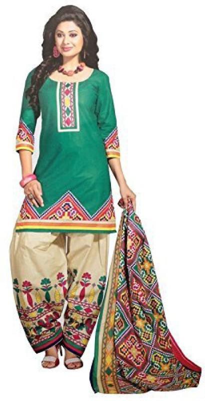 yashika Polycotton Printed Semi-stitched Salwar Suit Dupatta Material