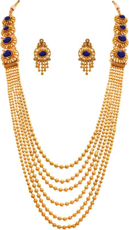 JFL-Jewellery For Less Copper Jewel Set(Gold, Blue)