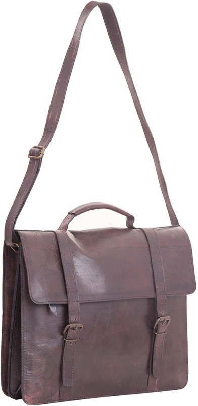 Craft Play Handicraft 15 inch Laptop Messenger Bag(Brown)