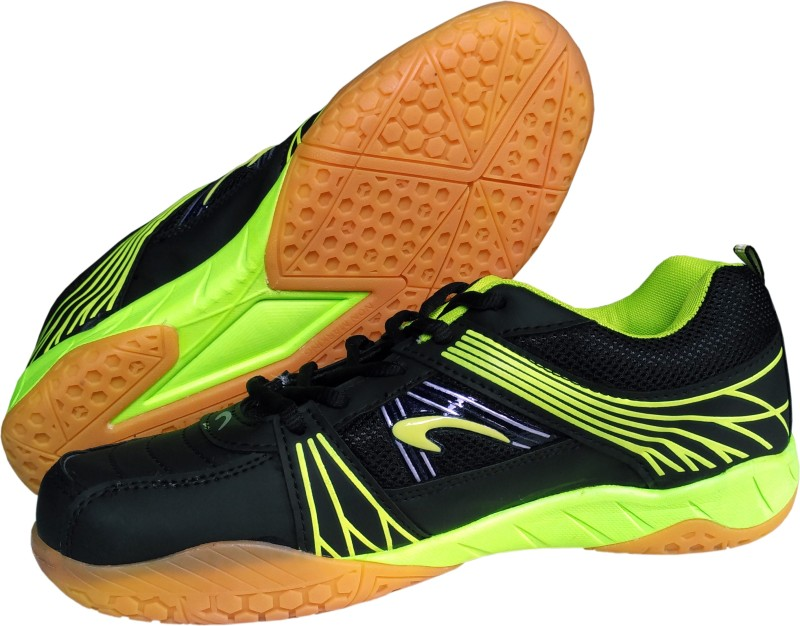 Proase BG 004 Non Marking - Black/Green Badminton Shoes For Men(Black)