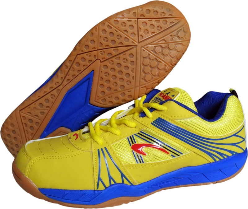 Proase BG 004 Non Marking - Yellow Badminton Shoes For Men(Yellow)