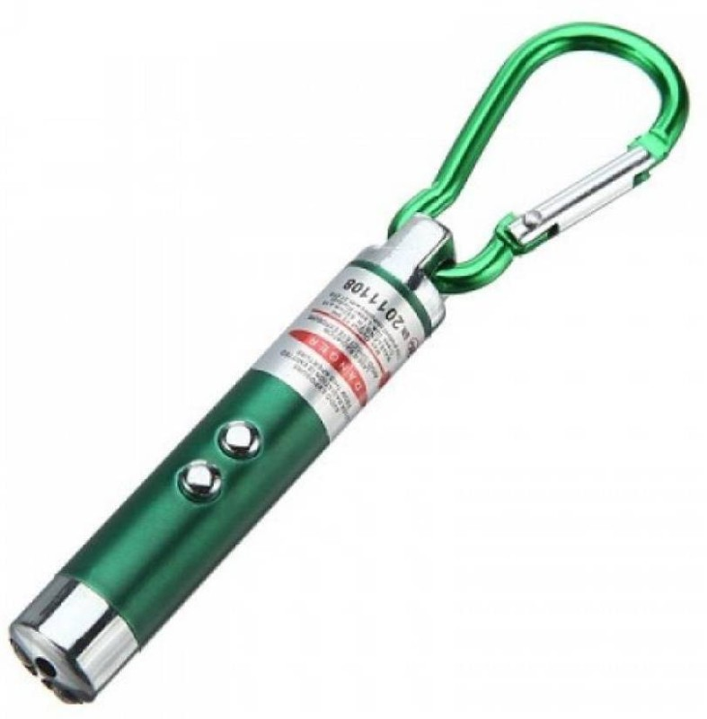 SHOPTICO 3in1 Laser Pointer 2 LED Flash light Multicolour Torch Key chain(650 nm, Red)