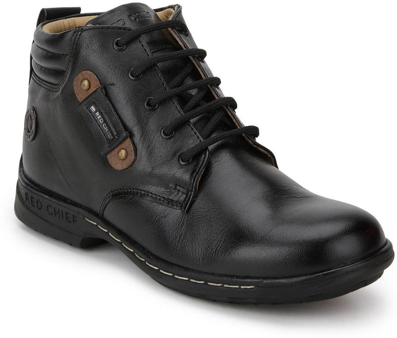 Red Chief RC6011 Boots For Men(Black)